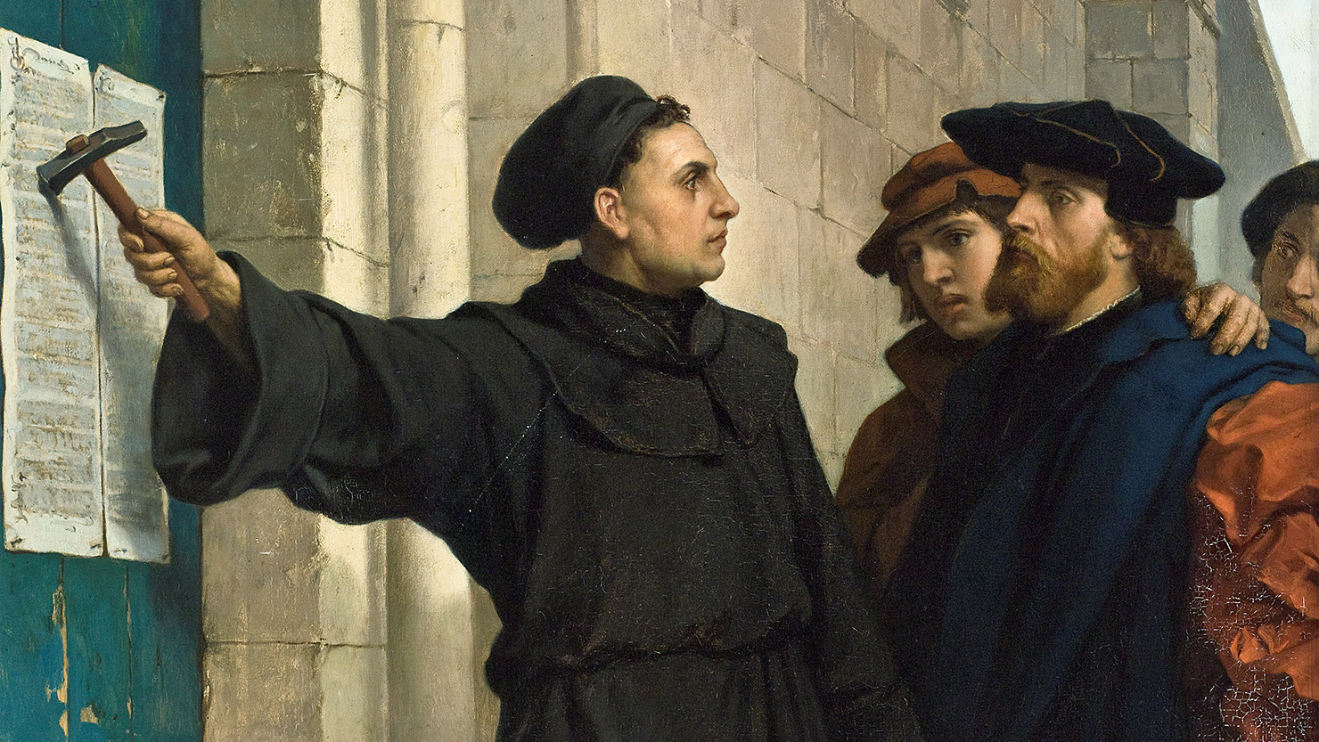 luthers thesis Martin luther's 95 theses (a modern translation) 1 when jesus said repent he meant that believers should live a whole life repenting 2 only god can give.