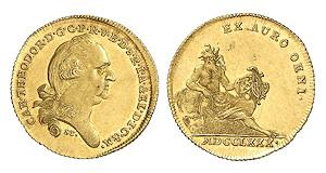 Bayern. Karl Theodor, 1777-1799. Dukat 1780, München.
