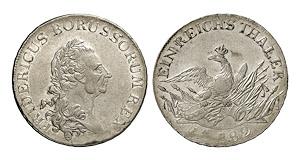 Brandenburg-Preußen. Friedrich II., 1740-1786. Reichstaler 1782, Breslau