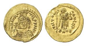 Mauricius Tiberius, 582-602. Solidus, 853-601, Konstantinopel.