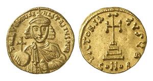Anastasius II. Artemius, 713-715. Solidus, Konstantinopel.