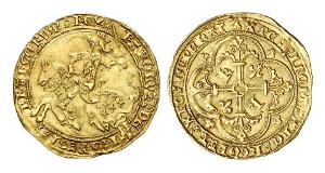 Frankreich. Charles VII, 1422-1461. Franc à cheval o. J. (12. Sept. 1422), Montpellier.