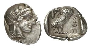 Athen. Tetradrachme, 440-420