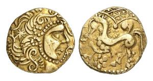 Frankreich. Parisii. Goldstater, 2. Jh. v. Chr.