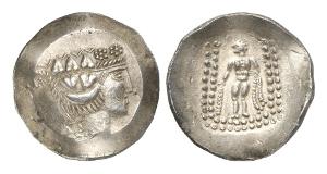 Dakien. Tetradrachmen nach dem thasischen Vorbild, 1. Jh. v. Chr.