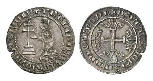 Johanniter auf Rhodos. Helion de Villeneuve, 1319-1346. Gigliato.
