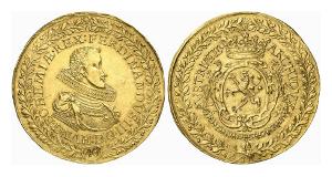Ferdinand III., 1625-1637-1657. 40 Dukaten 1629, Prag.
