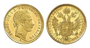 Franz Josef, 1948-1916. Dukat 1863, Wien.