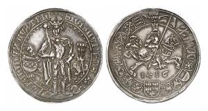 Sigismund der Münzreiche, 1446-1496. Guldiner 1486, Hall.