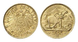 Deutsch Ostafrika. 15 Rupien 1916, Tabora.
