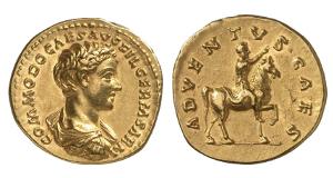 Antoninus II. Marcus Aurelius, 161-180 für Commodus. Aureus, 175/176, Rom.