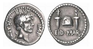 Römische Republik. Brutus. Denar, 42 v. Chr.