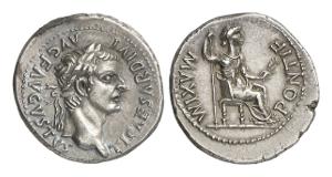 """Römische Kaiserzeit. Tiberius, 14-37. Denar, Lugdunum. So genannter """"Tribute penny""""."""