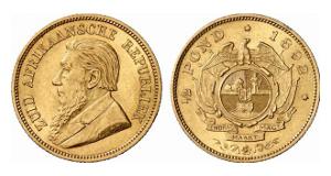 Südafrikanische Republik. 1/2 Pound 1892.