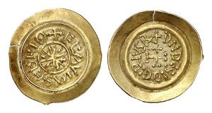 Langobarden. Desiderius, letzter König der Langobarden, 757-773. Tremissis, Castelseprio.