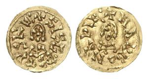 Westgoten. Sisebut, 612-621. Tremissis, Narbonne.