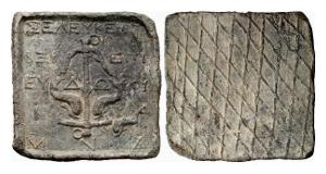 Seleukidisches Reich. Bleigewicht zu einer Mina, 162-145.