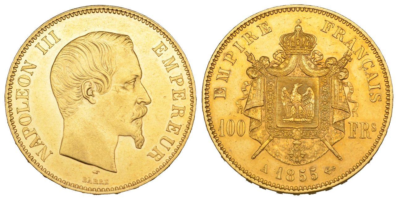 Napoléon Iii 1852 1870 100 Francs 1855 A Paris Fb 569 Schl 258