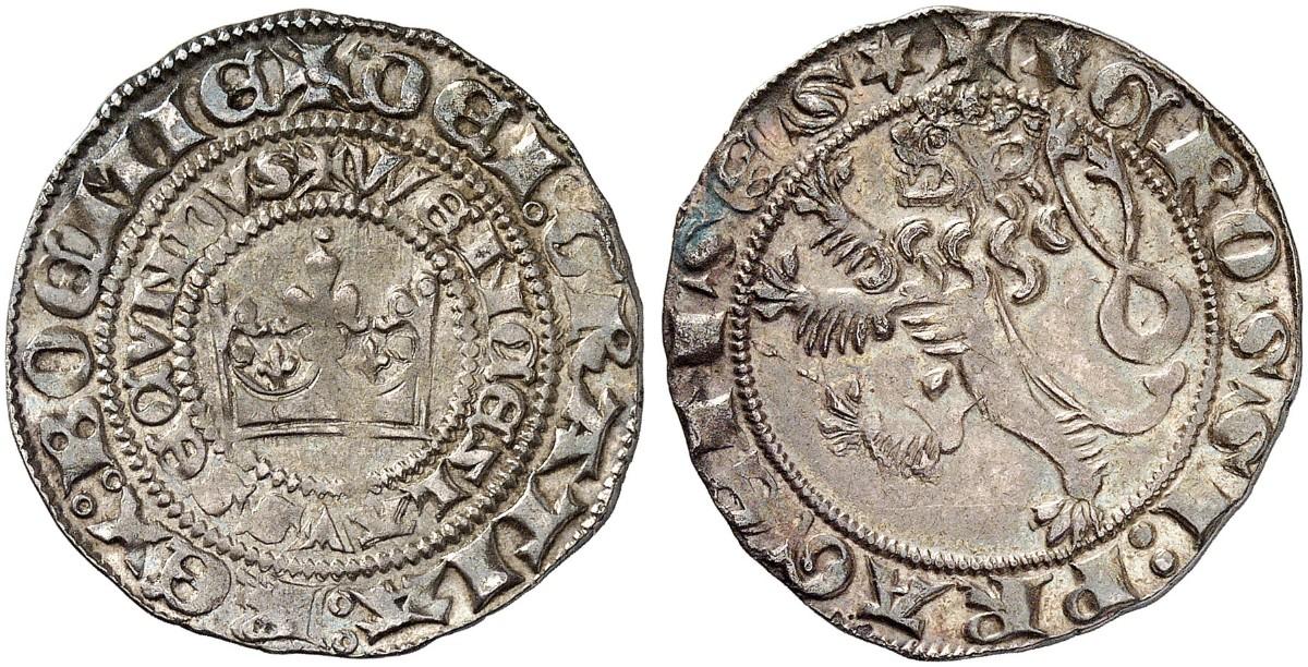 Wenzel Ii 1278 1305 Prager Groschen Um 1300 Prag Doneb 807