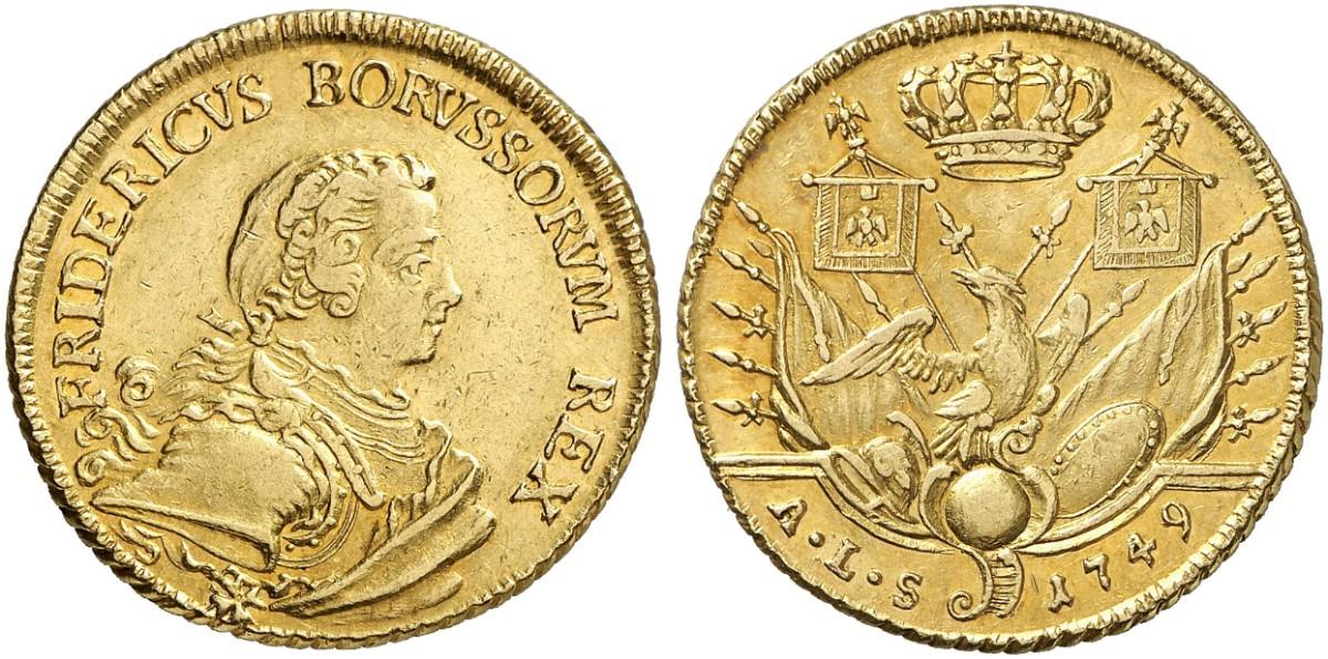Friedrich Ii Der Große 1740 1786 Doppelter Friedrichs Dor 1749