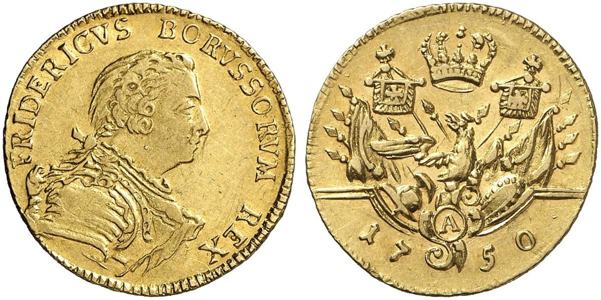Friedrich Ii Der Große 1740 1786 12 Friedrichs Dor 1750 A