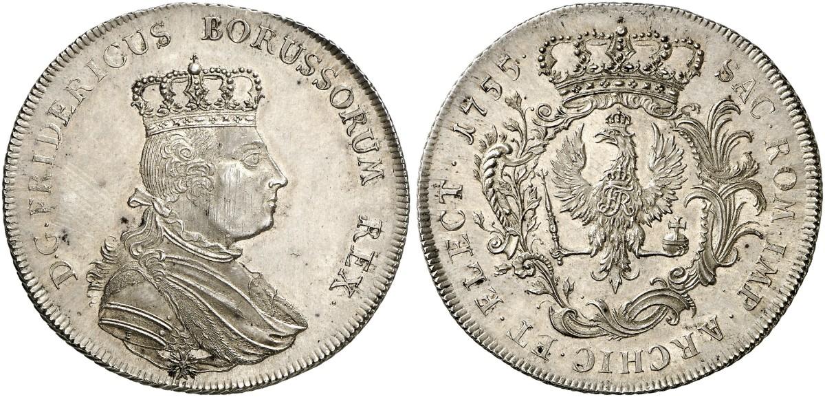 Friedrich Ii Der Große 1740 1786 Speciestaler 1755 Ohne