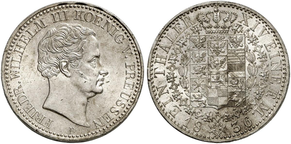 Friedrich Wilhelm Iii 1797 1840 Taler 1836 D Aks 17 Dav 763
