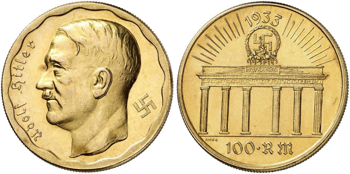Hitler Adolf 1889 Braunau 1945 Berlin Goldmedaille 1933 Colb