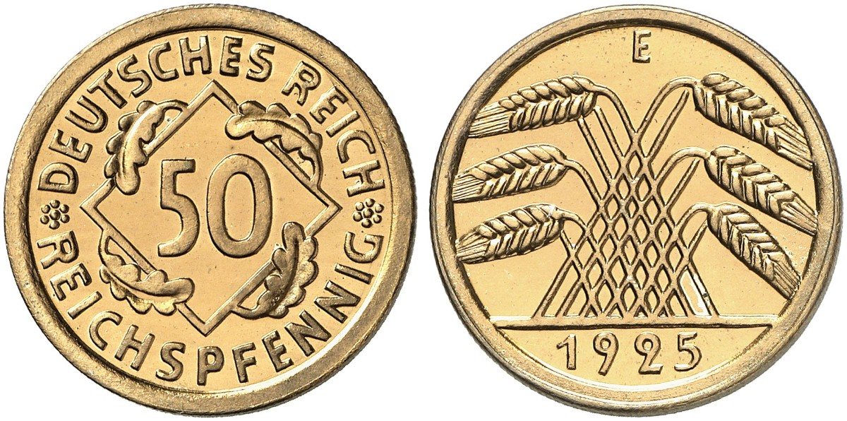 50 Reichspfennig 1925 E J 318