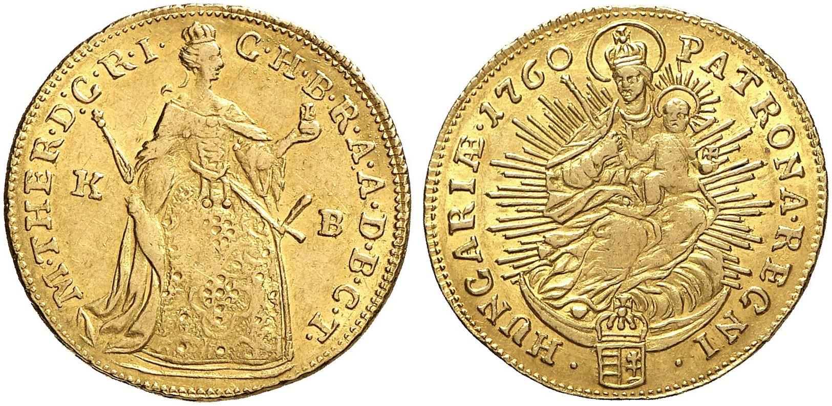 Maria Theresia 1740 1780 Dukat 1760 Kb Kremnitz Eypeltauer 251