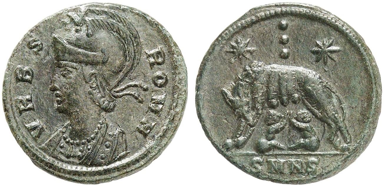 Constantinus I 306 337 Für Urbs Roma æ Follis 330335 Nicomedia