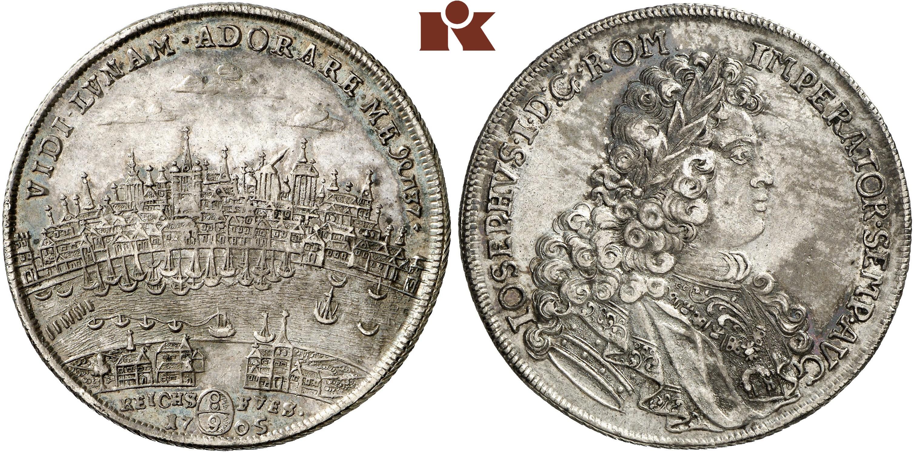Reichstaler 1705 Dav 2183 Noss 568
