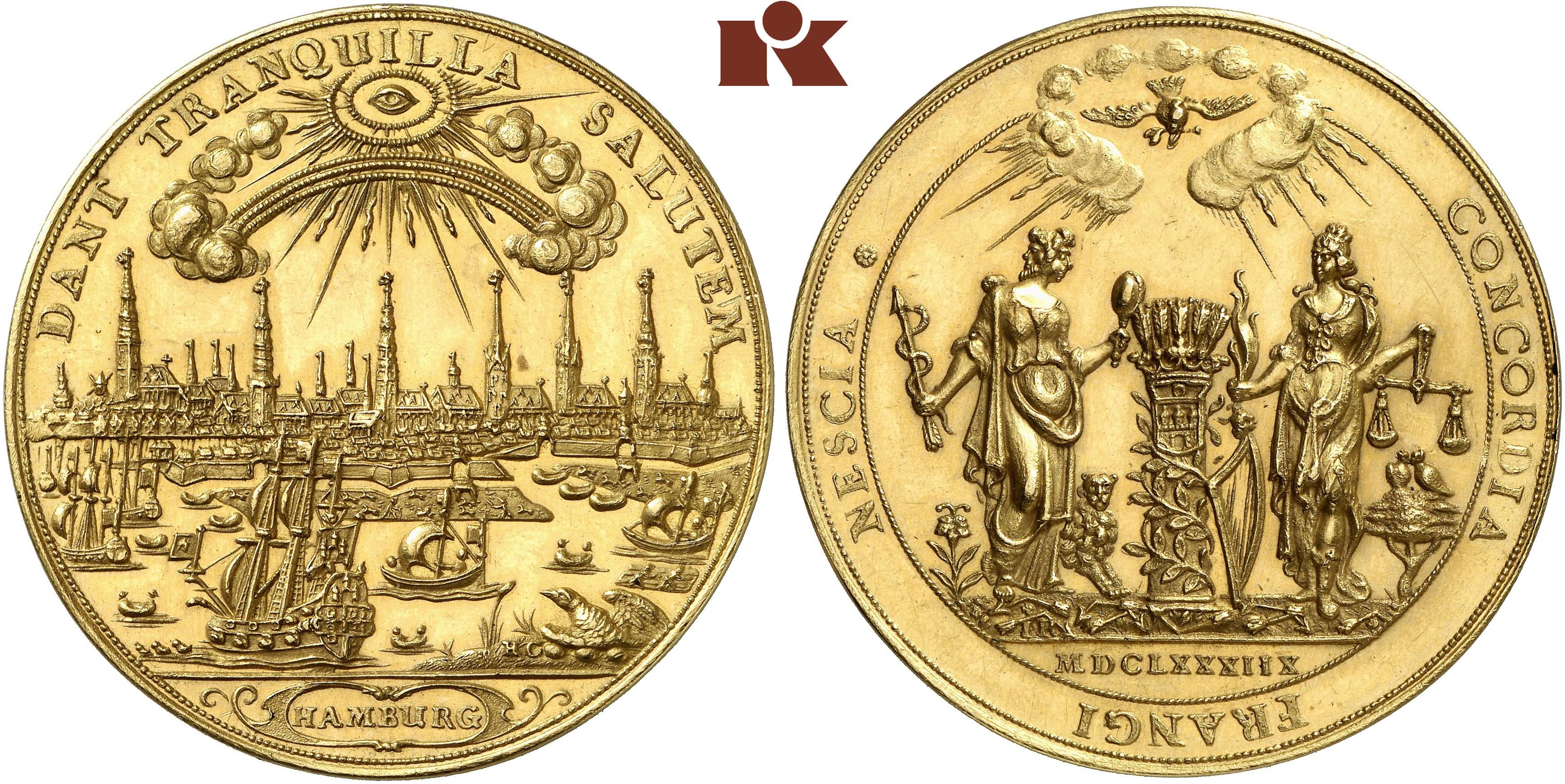 Bankportugalöser Zu 10 Dukaten 1688 Gaed 1642 Slg Vogel Auktion