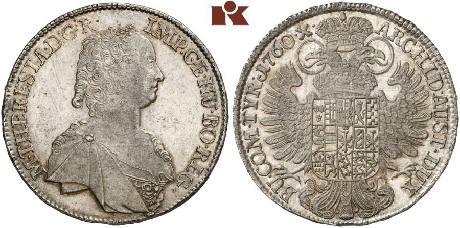 Maria Theresia 1740 1780 Konv Taler 1760 Hall Dav 1121