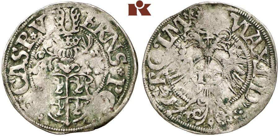 Ernst I., Botho und Caspar Ulrich, 1553-1575. 12 Kreuzer ...