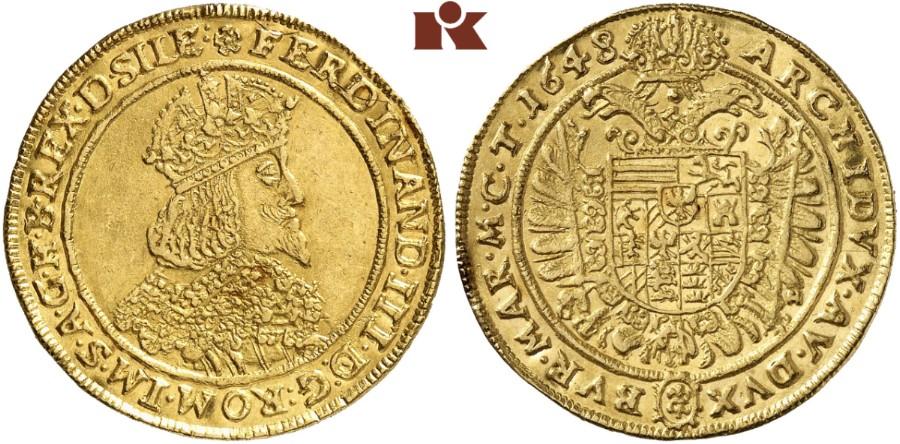 Ferdinand Iii 1625 1637 1657 2 Dukaten 1648 Gh Breslau 691 G