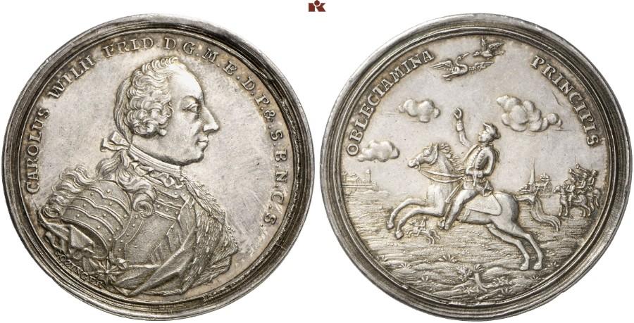 Karl Wilhelm Friedrich 1729 1757 Taler O J Um 1753 Schwabach