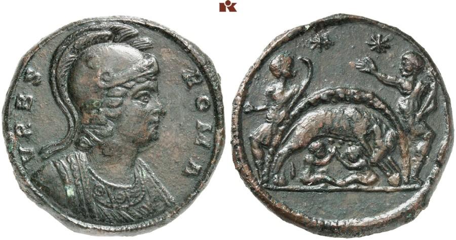 Constantinus I 306 337 Für Urbs Roma æ Medaillon 2460 G
