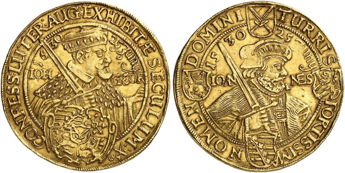 Johann Georg I 1615 1656 10 Dukaten 1630 Dresden Fb 2693 Slg