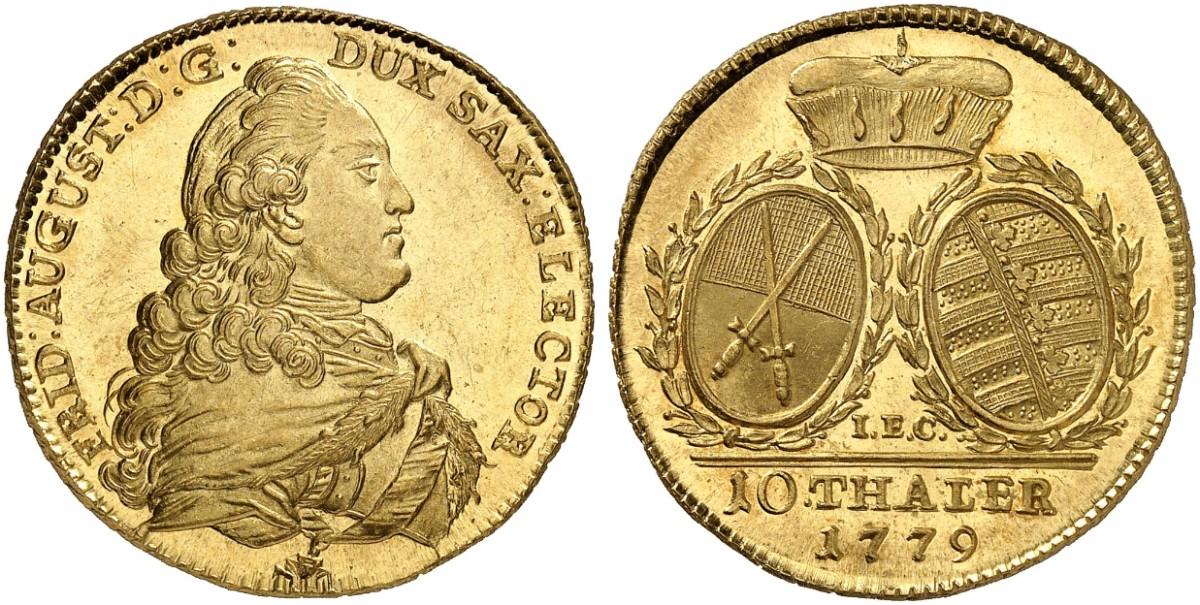 Friedrich August Iii I 1763 1806 1827 10 Taler Doppelter