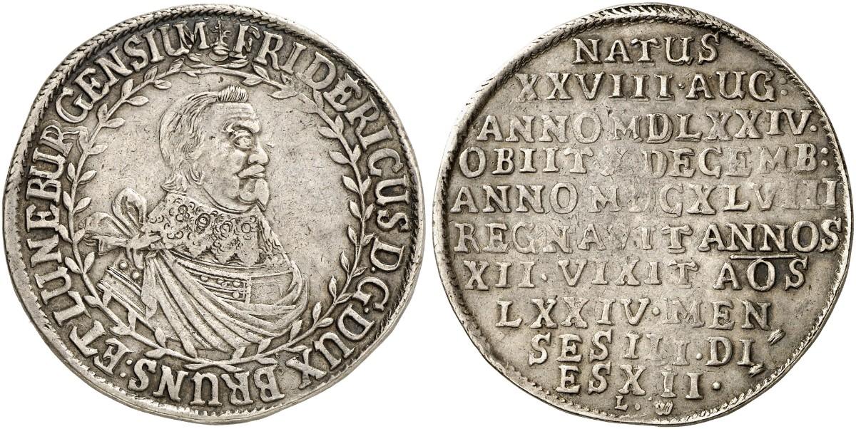 Friedrich 1636 1648 Reichstaler 1648 Clausthal Dav 6500 Welter