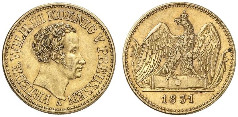 Friedrich Wilhelm Iii 1797 1840 Doppelter Friedrichs Dor 1831 A