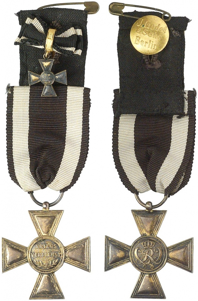 milit r verdienstkreuz 2 ausf hrung silber vergoldet 1916 1918 anfertigung der firma. Black Bedroom Furniture Sets. Home Design Ideas