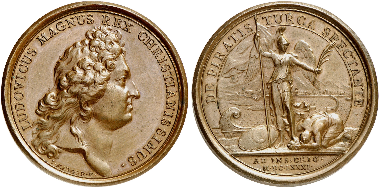 Bronzemedaille 1681, Divo 190.