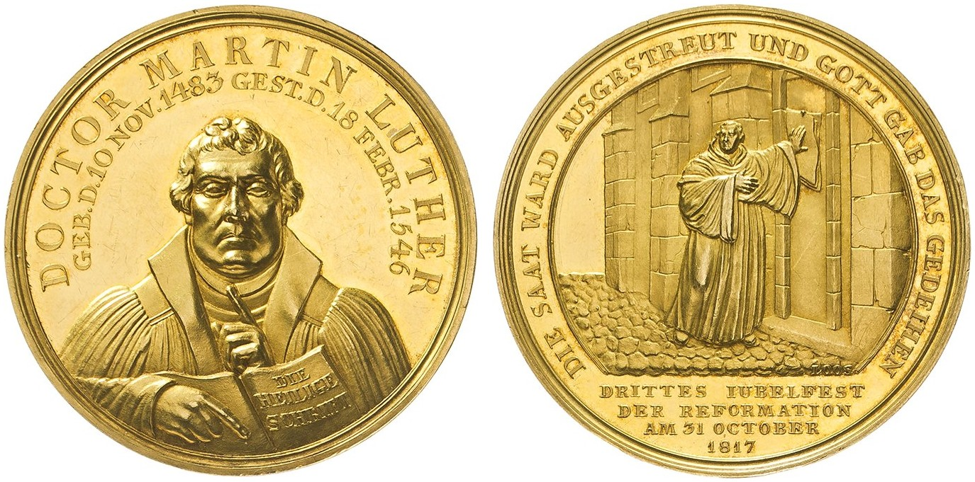 Friedrich Wilhelm Iii 1797 1840 Goldmedaille Zu 10 Dukaten 1817