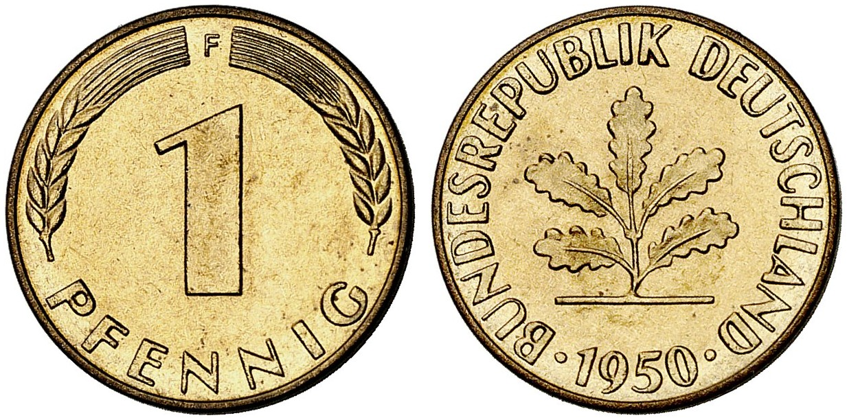 1 Pfennig 1950 F Zu J 380