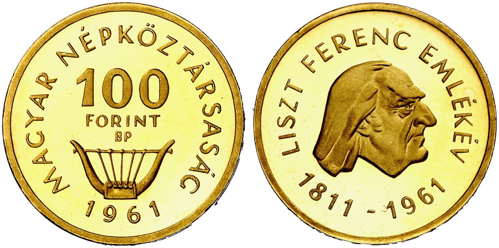 Volksrepublik 1949 1989 100 Forint 1961 Budapest Fb 612 Schl 155
