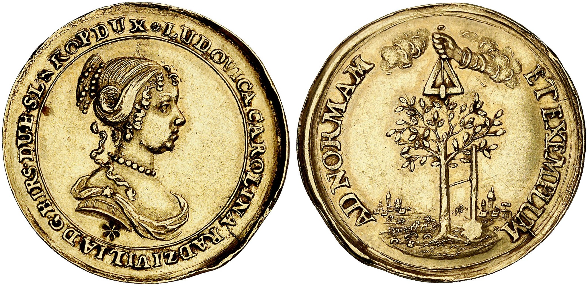 Johann Wilhelm 1690 1716 Goldmedaille O J Um 1688 Slg