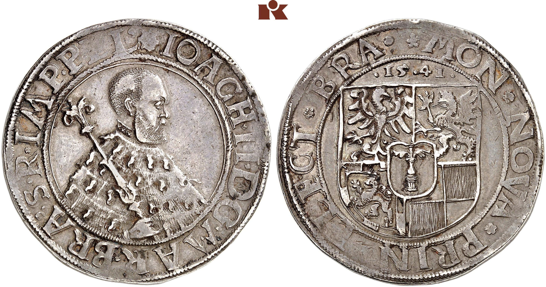 Joachim Ii 1535 1571 Taler 1541 Berlin 2880 G Bahrf 346 D