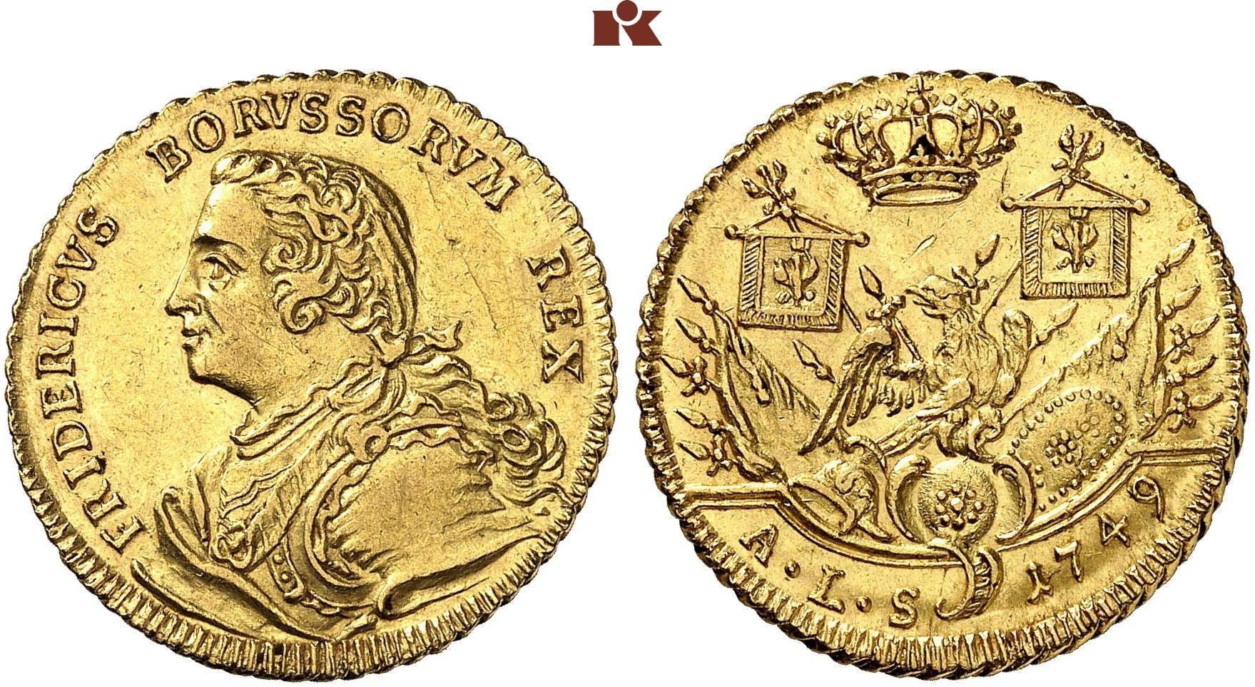 Friedrich Ii Der Große 1740 1786 Friedrichs Dor 1749 Als